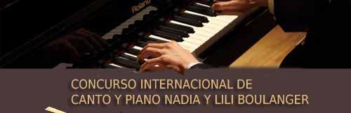 Concurso Internacional de Canto y piano Nadia y Lili Boulanger
