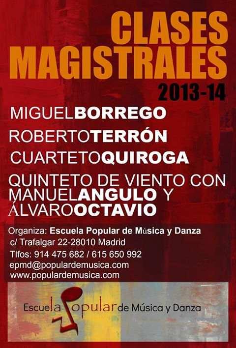 Cartel Clases Magistrales Escuela_Popular  http://www.populardemusica.com/