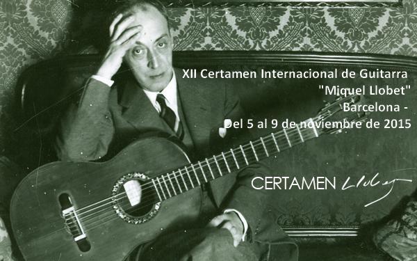 """XII Certamen Internacional de Guitarra """"Miquel Llobet"""". Barcelona"""