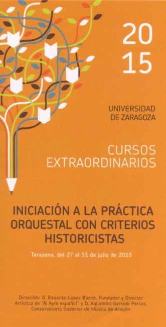 Curso: Iniciación a la práctica orquestal con criterios historicistas