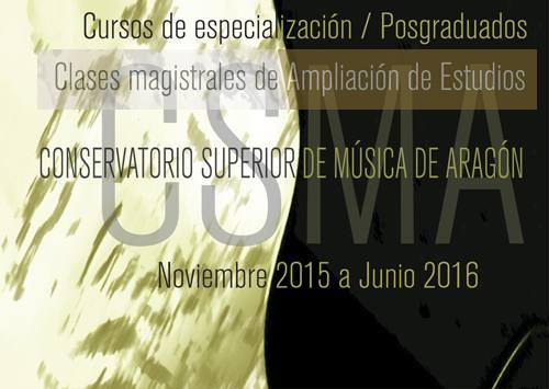 Cursos de Especialización y clases magistrales CSMA 2015/2016