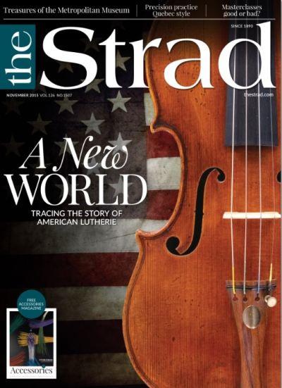Publicado el nº de noviembre de The Strad.