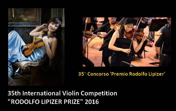 "35th International Violin Competition ""RODOLFO LIPIZER PRIZE"" 2016"