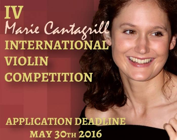 IV Marie Cantagrill International Violin Competition 2016