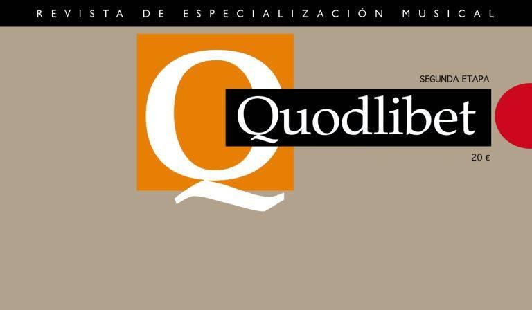 Últimos sumarios de Quodlibet: revista de especialización musical