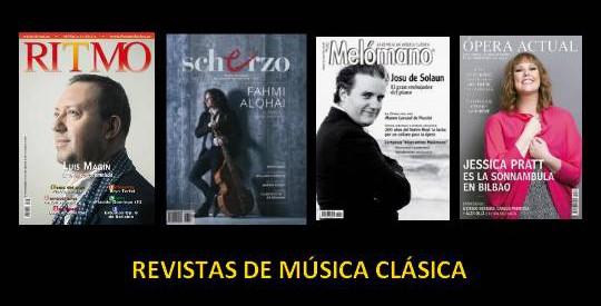 Sumarios de Ritmo, Scherzo, Melómano y Ópera Actual. Febrero 2016