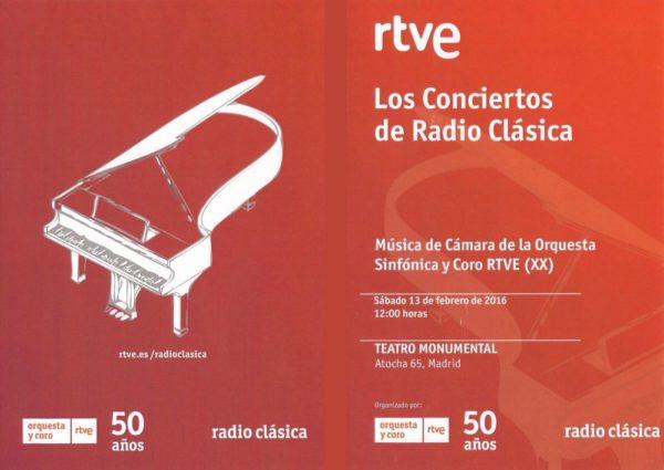 Rubén Menéndez y Aniana Jaime en el Ciclo de Música de Cámara de la RTVE.