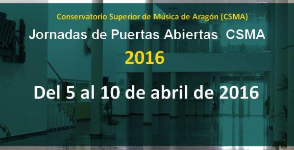 Jornadas de Puertas Abiertas CSMA. Del 5 al 10 de abril de 2016