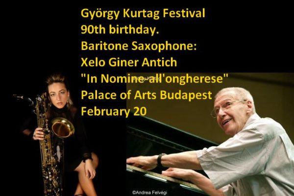 Xelo Giner Antich en el György Kurtag Festival