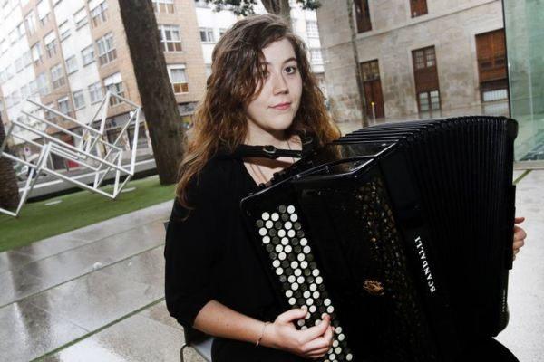 Nerea Rodríguez en el Festival Internacional de Acordeón de Kiev