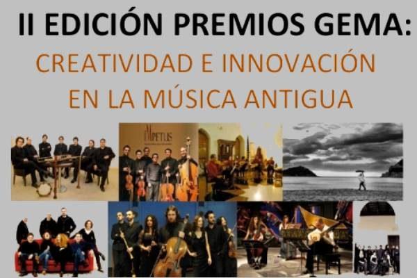2ª Edición Premios GEMA: Creatividad e innovación en la música antigua