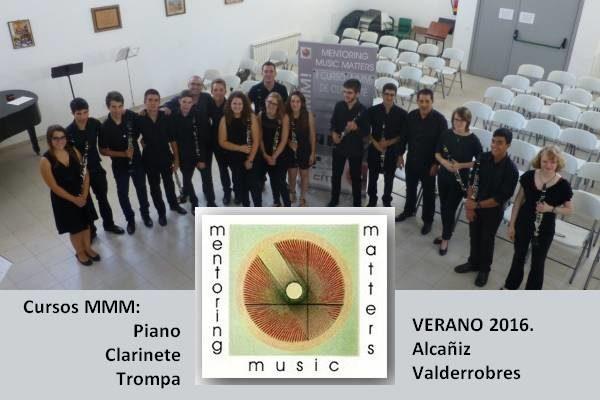 Cursos MMM! Piano, Clarinete, Trompa – VERANO 2016. Valderrobres