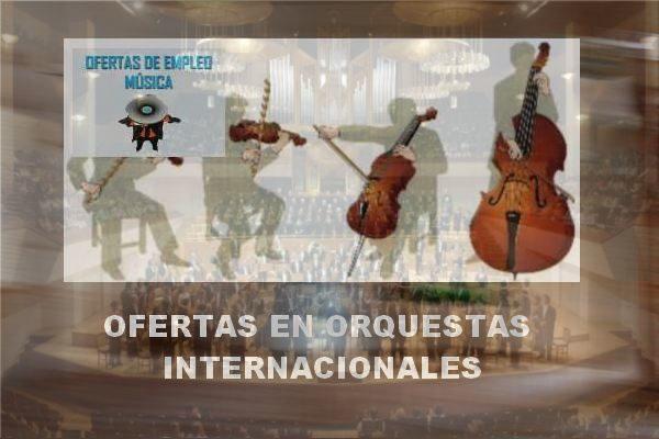 Ofertas de empleo en orquestas internacionales: Abril - Junio 2016