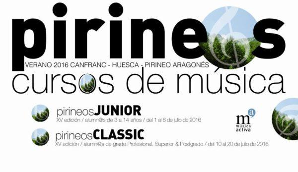 Cursos Intern. de Música Pirineos Classic y Junior - Verano 2016