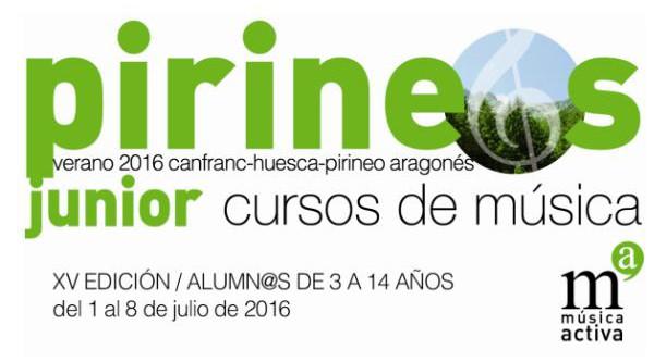 Curso Internacional de Música Pirineos Júnior - Verano 2016