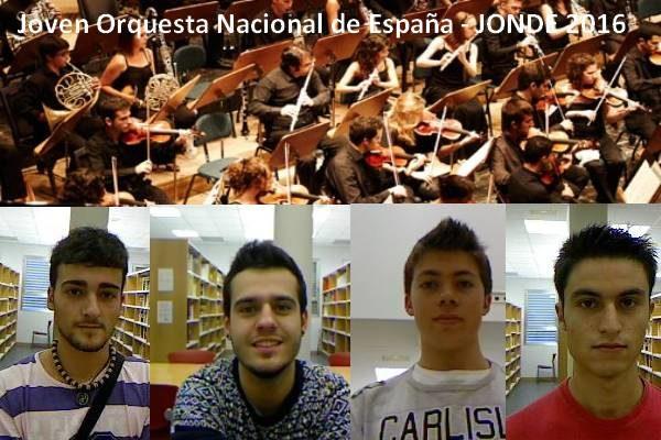 Alumnos CSMA en la Joven Orquesta Nacional de España - JONDE2016