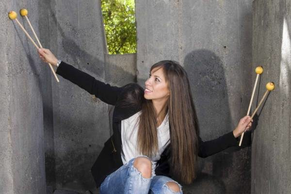 Verónica Cagigao, profesora en el CSMA, en el Auditorio de Tenerife