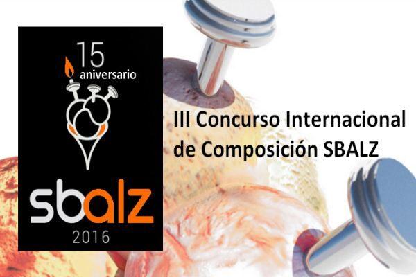 III Concurso Internacional de Composición SBALZ