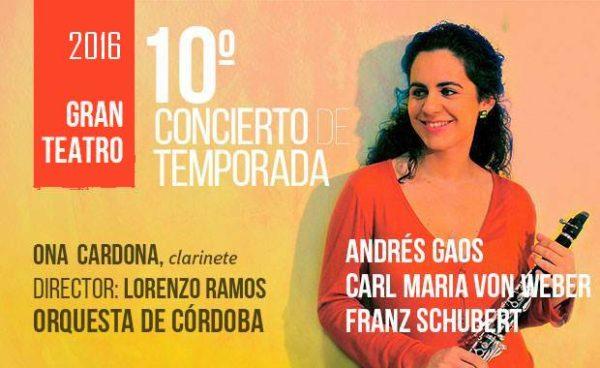 Gran éxito de Ona Cardona con la Orquesta de Córdoba