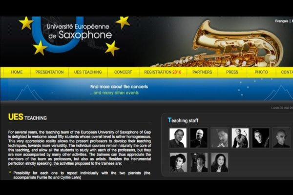 El profesor del CSMA Mariano García en la Université Européenne de Saxophon