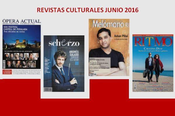 Sumarios de Ritmo, Scherzo, Ópera Actual, y Mélomano: Junio 2016