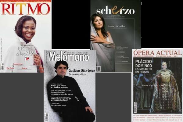 Sumarios de Ritmo, Scherzo, Ópera Actual, y Mélomano: Septiembre 2016