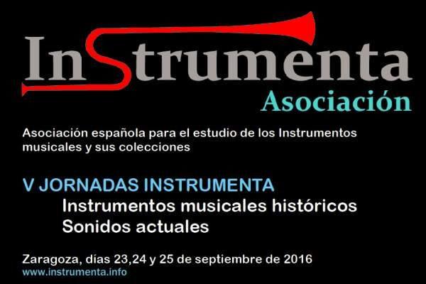 V Jornadas Instrumenta en Zaragoza. 23 al 25 de Septiembre 2016