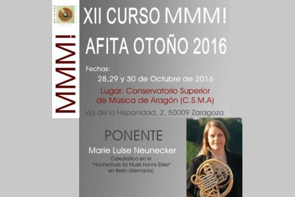 XII CURSO MMM! DE TROMPA AFITA-OTOÑO 2016 EN EL CSMA