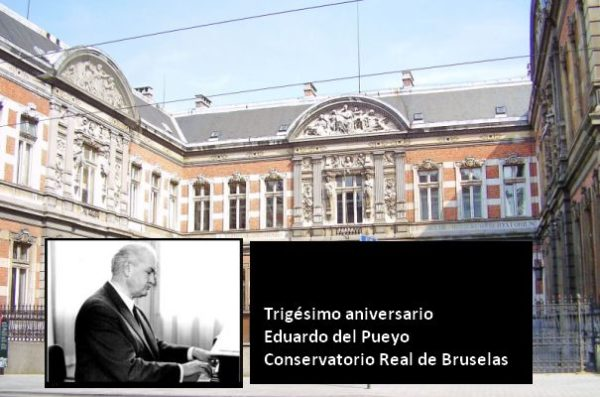 Trigésimo aniversario de Eduardo del Pueyo en el C. Real de Bruxelles