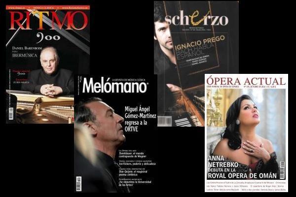 Sumarios de Ritmo, Scherzo, Ópera Actual, y Mélomano: Octubre 2016
