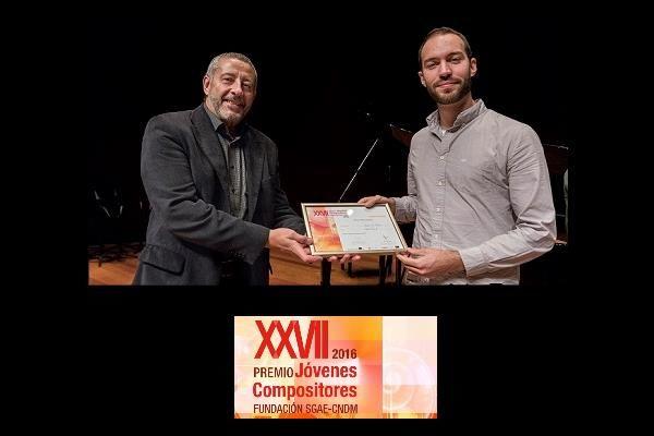 Abel Paúl gana el Premio Jóvenes Compositores 2016 SGAE-CNDM