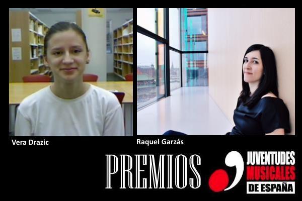 Vera Drazic y Raquel Garzás, alumnas del CSMA, premios JME 2016