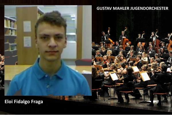 Eloi Fidalgo, alumno CSMA, titular de la GUSTAV MAHLER JUGENDORCHESTER