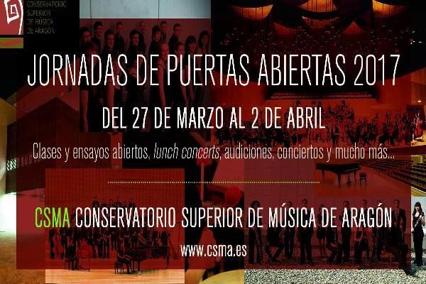 Jornadas de Puertas Abiertas 2017 del CSMA. Del 27 de marzo al 2 de abril