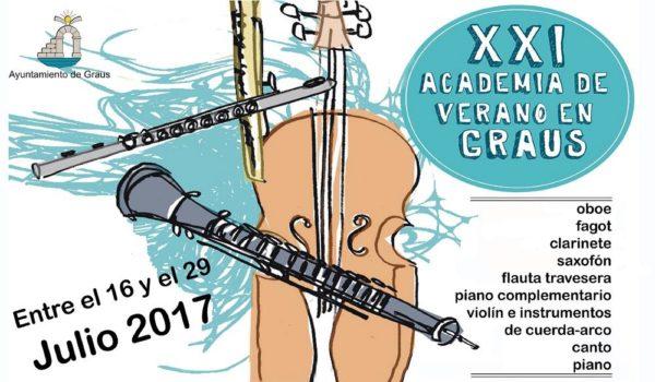 Academia Musical de Verano de Graus 2017. 16 al 29 de Junio.