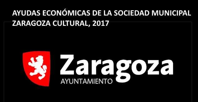 Convocatoria 2017 de subvenciones del Ayuntamiento de Zaragoza