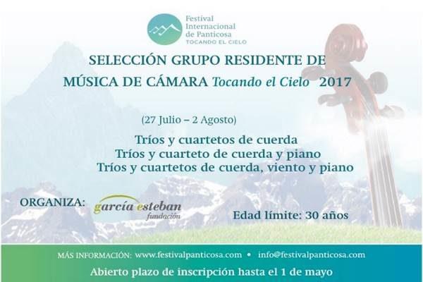 "SELECCIÓN DEL GRUPO DE CÁMARA RESIDENTE ""TOCANDO EL CIELO"" 2017."