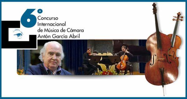 VI Concurso Internacional de Música de Cámara Antón García Abril 2017