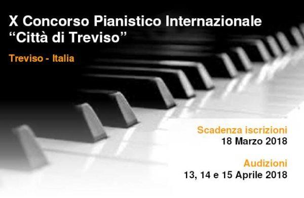 "10º Concurso Internacional de Piano ""Città di Treviso"" 2018"