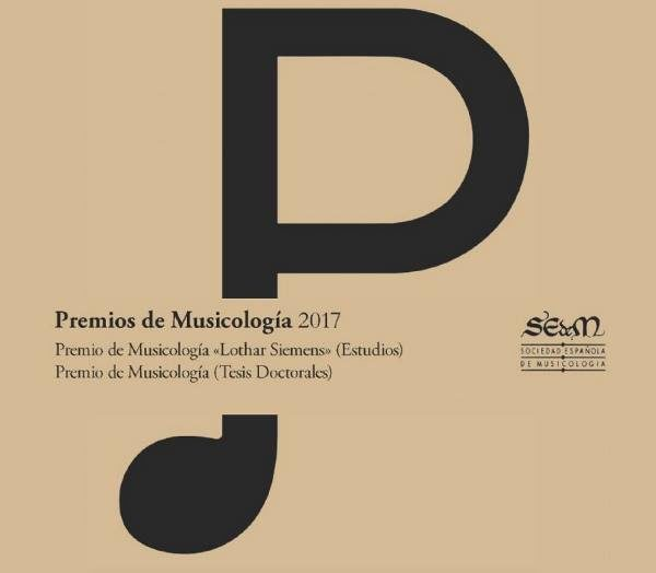 Convocado el Premio de Musicología 2017 de la SEdeM