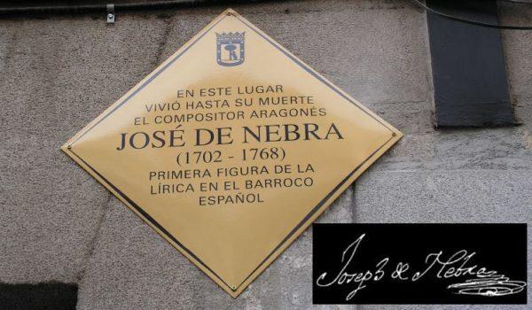 El CSMA se suma a la conmemoración del aniversario de la muerte del compositor aragonés José Nebra con un concierto el 7 de febrero