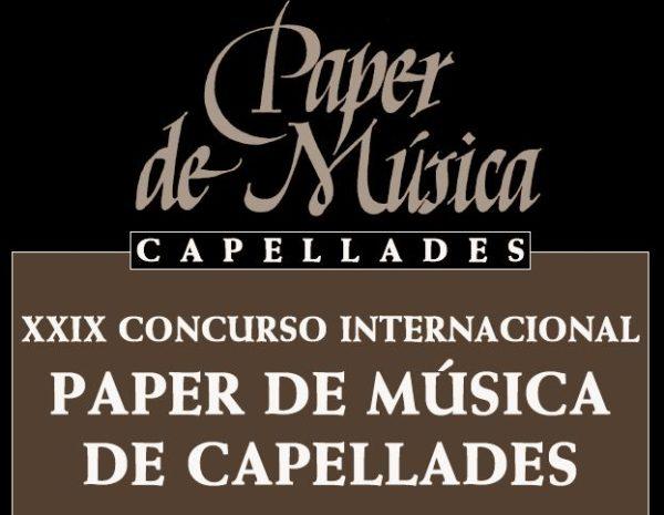 29º Concurso Internacional Paper de Música de Capellades