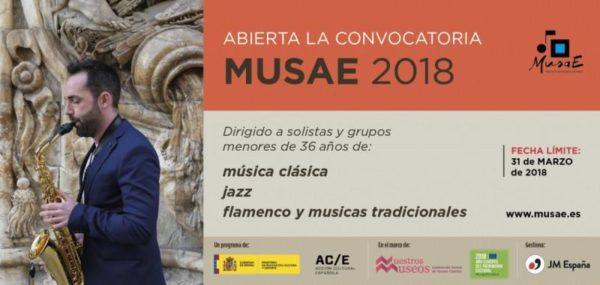 Convocatoria a músicos para participar en MUSAE 2018