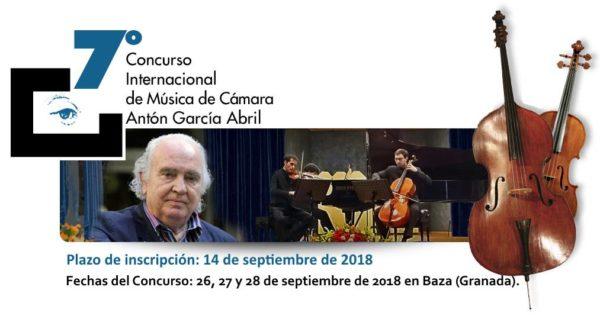 """VII Concurso Internacional de Música de Cámara """"Antón García Abril"""""""