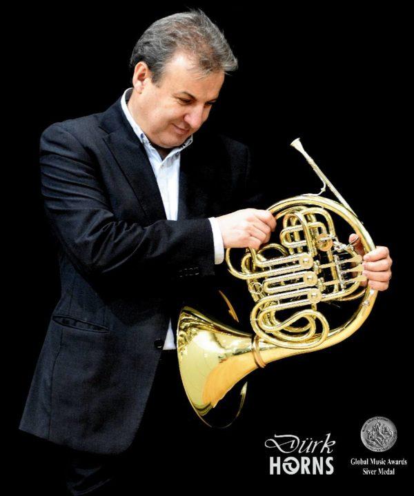 Paco Rodríguez, profesor de trompa del CSMA Medalla de plata en el Global Music Awards - California