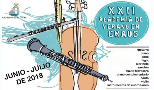 22 Academia Musical de Verano de Graus. 15 al 19 de julio 2018