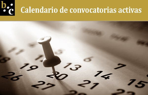 Ver Calendario de Convocatorias activas