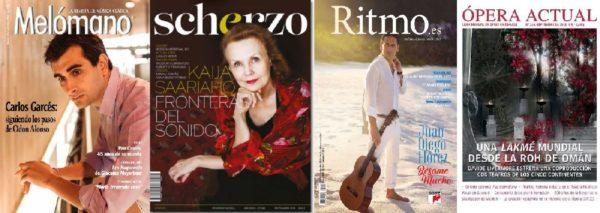 Sumarios de Ritmo, Scherzo, Ópera Actual, y Mélomano: Septiembre 2018
