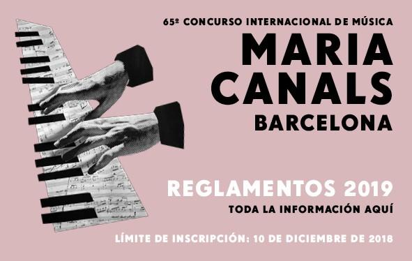 Concurso Internacional de Música Maria Canals. Barcelona 2019
