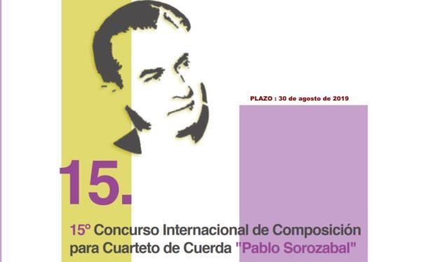 """15º Concurso Internacional de Composición para Cuarteto de Cuerda """"Pablo Sorozabal"""""""
